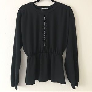Zara Peplum Sweatshirt